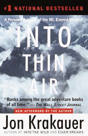 Into Thin Air Front Cover